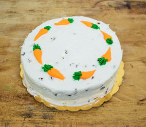 McArthur's Bakery single layer carrot cake.