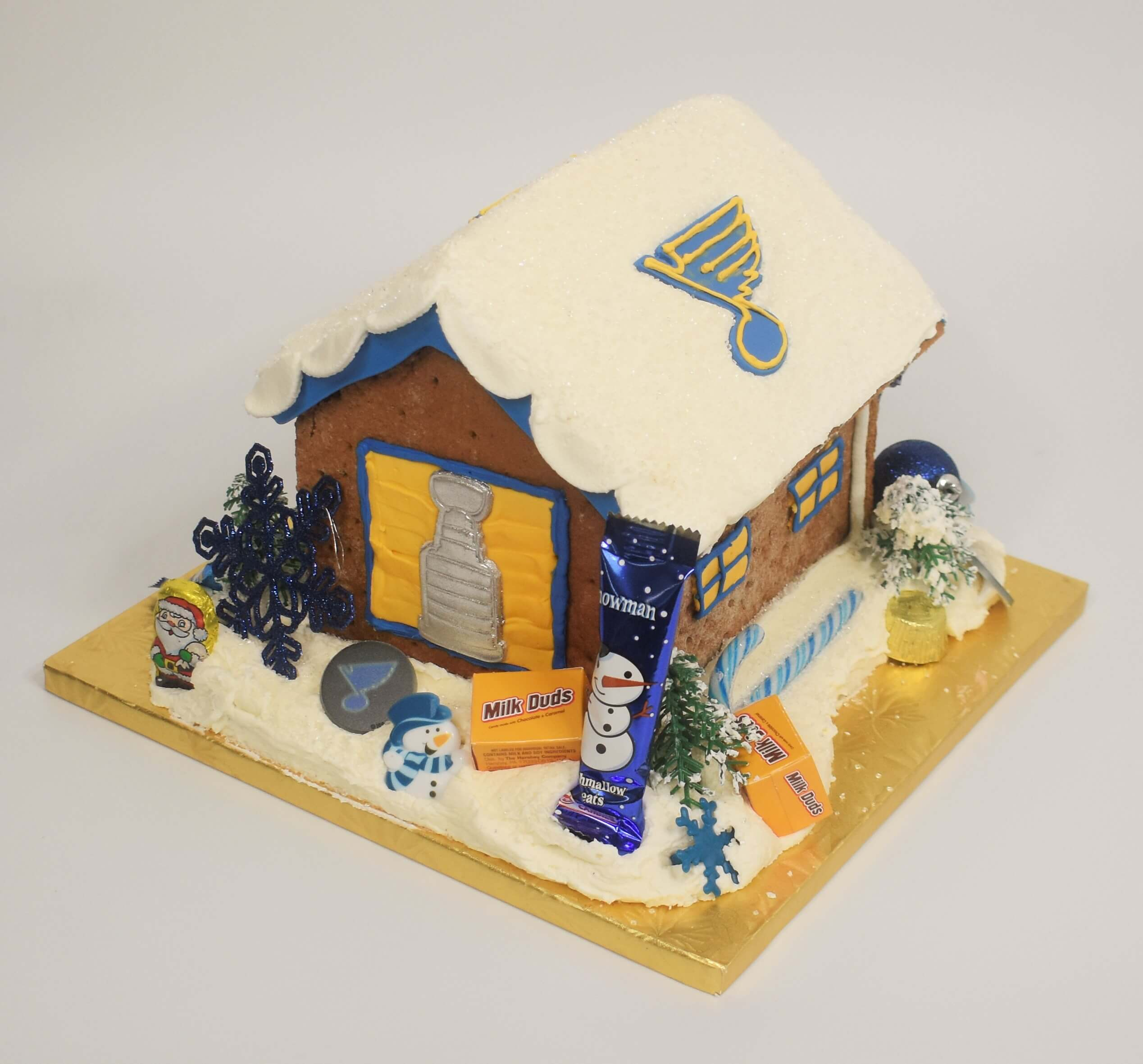 St. Louis Blues Gingerbread House