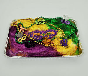 King Cake With Strawberry Cheese Filling