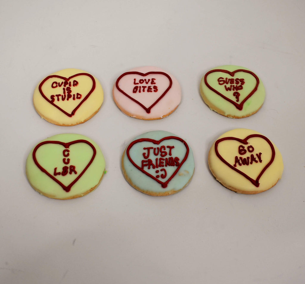 Not-So-Sweet Valentines Cookies (6 Pack)