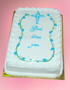 Rose Buds and Cross Cake