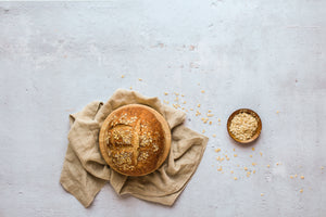 Soft Concrete Photography Board 2 ft x 3ft | 3mm thick with oats and bread