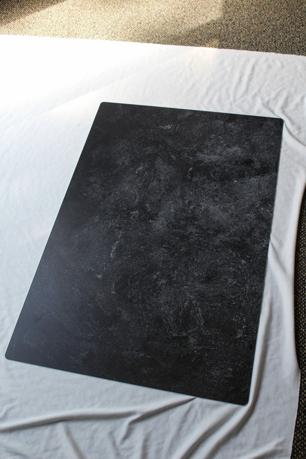 Black Textured Paint Photography Backdrop 2 ft x 3ft board | 3 mm thick behind the scenes