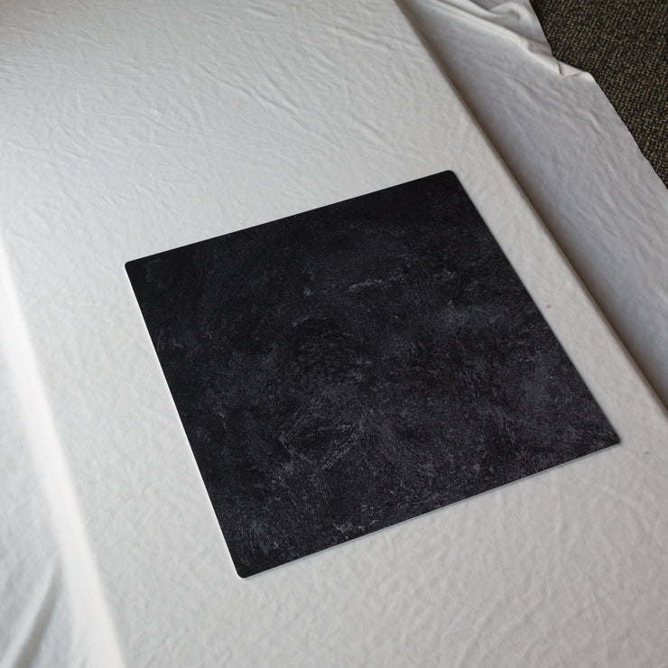 20-inch x 20-inch Black Textured Paint Photography Backdrop 3 mm thick Physical Board, Lightweight, Moisture & Stain-Resistant behind the scenes