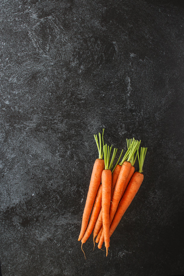 Black Textured Paint Photography Backdrop 2 ft x 3ft board | 3 mm thick with whole carrots