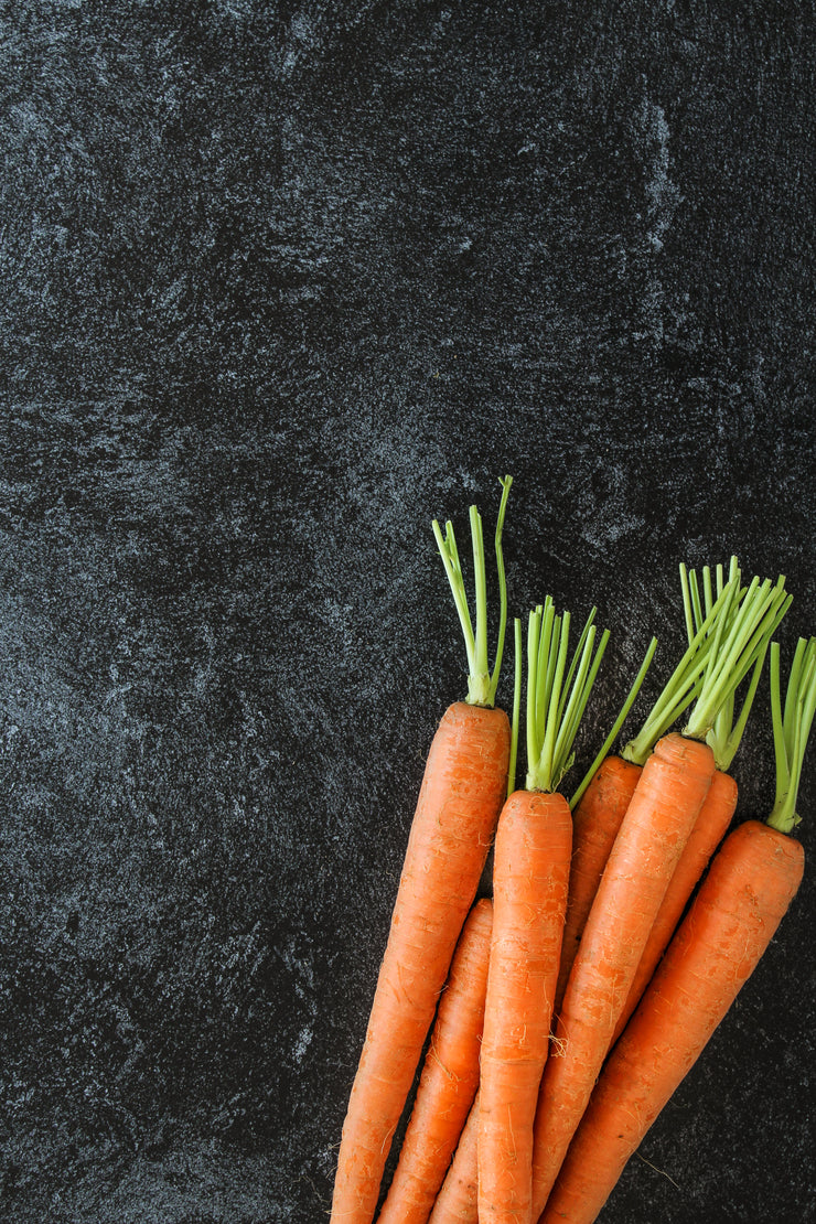 Black Textured Paint Photography Backdrop 2 ft x 3ft board | 3 mm thick up close with carrots