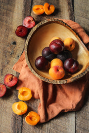 Dark Brown Reclaimed Barn Wood Replica Photography Backdrop 2 ft x 3ft board with apricots