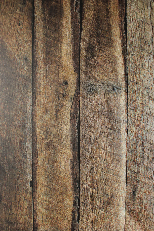 Super-Thin & Pliable Dark Brown Reclaimed Barn Wood Replica Photography Backdrop 2 ft x 3ft, Lightweight, Moisture & Stain-Resistant