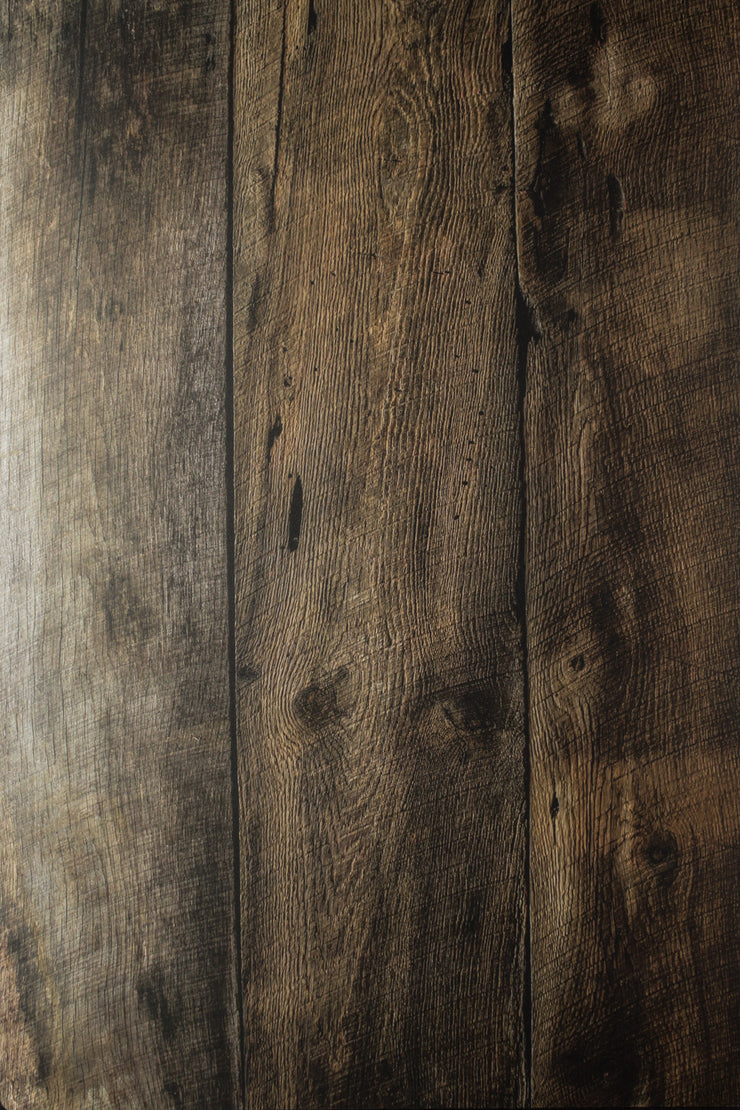 Deep Mocha Brown Wood Replica Photography Backdrop | 2ft x 3 ft, Moisture & Stain-Resistant