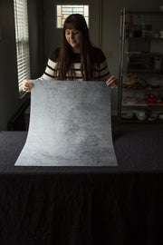 Super-Thin & Pliable Gray Concrete Photography Backdrop 2 ft x 3 ft, Lightweight, Moisture & Stain-Resistant behind the scenes