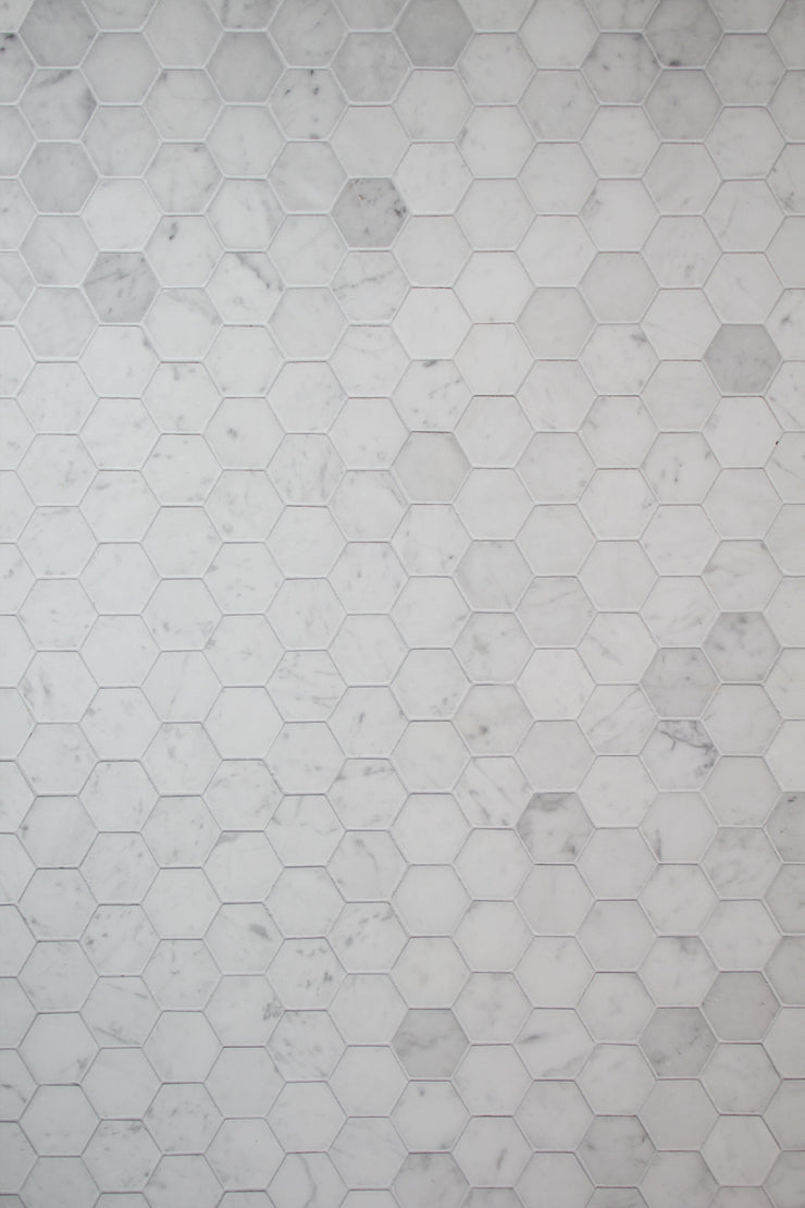 Marble Hexagon Tile Replica Photography Backdrop