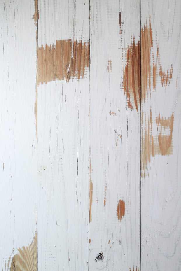 Whitewashed Reclaimed Wood Photography Backdrop 2 ft x 3 ft board | 3 mm thick