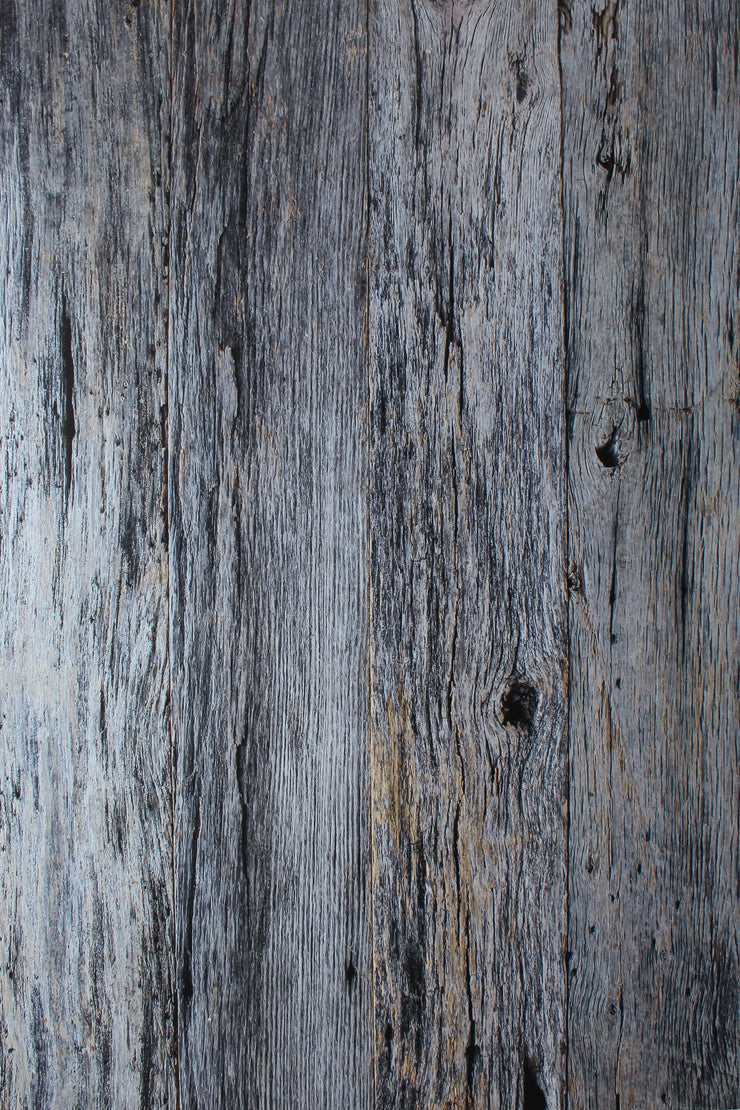 Silver Blue Reclaimed Wood Photography Backdrop 2 ft x 3 ft board | 3 mm thick