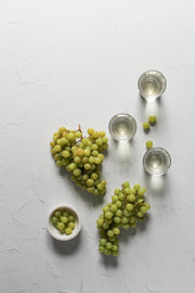 Simple White Textured Photography Backdrop 2 ft x 3 ft with grapes