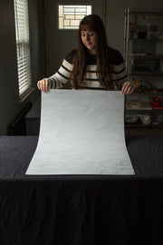 Super-Thin & Pliable Subtle Gray Marble Backdrop Board for Photography 2 ft x 3ft, Lightweight, Moisture & Stain-Resistant behind the scenes