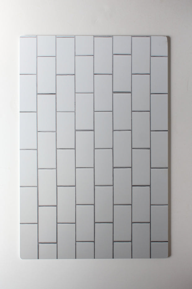 The Most Realistic Subway Tile Photography Backdrop 3ft x 2 ft | 3 mm thick physical board