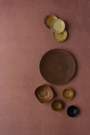 Terra Cotta Photography Backdrop 2 ft x 3ft board with brown bowls and plates