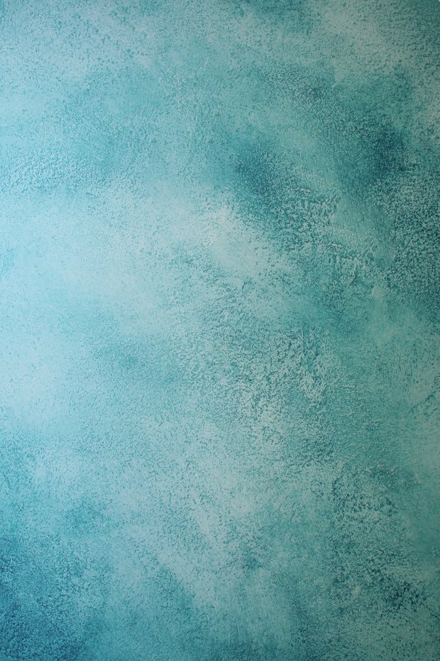Super-Thin & Pliable Turquoise Blue Green Painted Photography Backdrop 2 ft x 3 ft, Lightweight, Moisture & Stain-Resistant