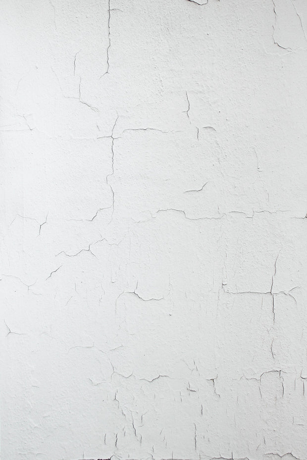 Super-Thin & Pliable White Chipped Paint Photography Backdrop 2 ft x 3 ft, Moisture & Stain Resistant, Lightweight