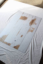 Whitewashed Reclaimed Wood Photography Backdrop 2 ft x 3 ft board | 3 mm thick behind the scenes