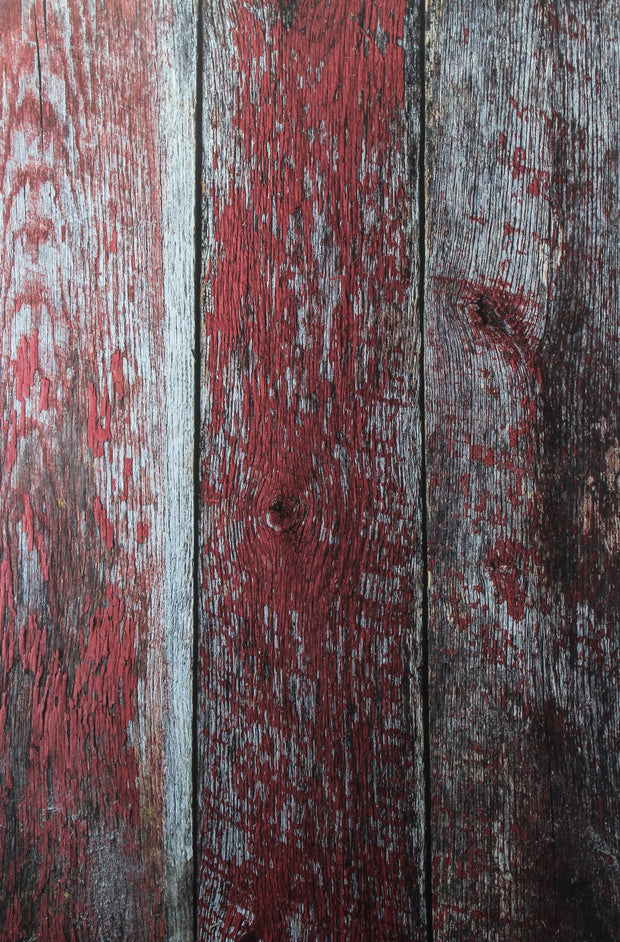 Aged Red Reclaimed Barn Wood Photography Backdrop 2 ft x 3ft board | 3 mm thick