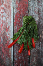 Aged Red Reclaimed Barn Wood Photography Backdrop 2 ft x 3ft board | 3 mm thick with Swiss chard