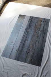 Silver Blue & White Reclaimed Wood Photography Backdrop 2 ft x 3 ft board | 3 mm thick behind the scenes