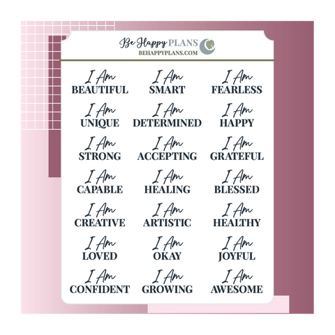 Affirmations Stickers