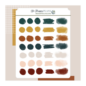 Flora Wings Paint Swatches Stickers