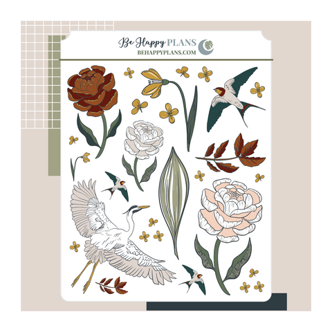 Flora Wings Deco Stickers
