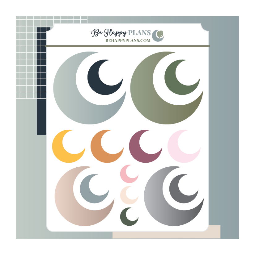 Crescent Moon Stickers
