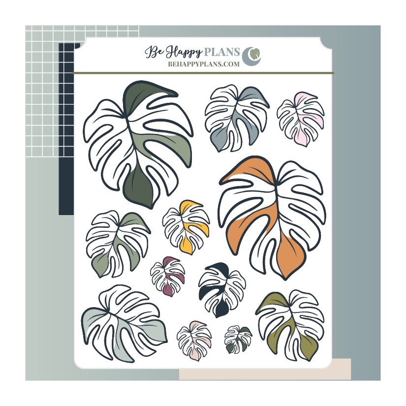 Monstera Leaf Stickers