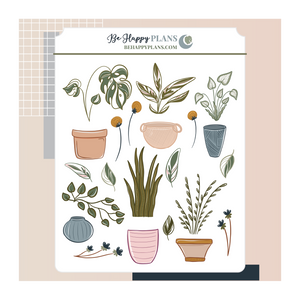 DIY Potted Plants Stickers