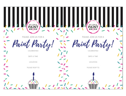 Blue Paint Party Invitation