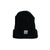 2-Way Folded Beanie / Jet Black