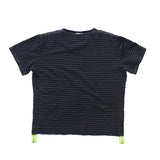 Signature Striped Tee | Grey / Volt