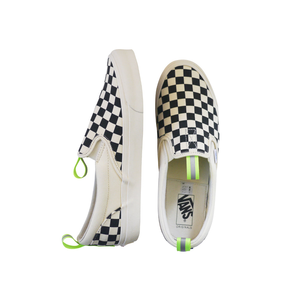 OG Classic Slip-On Custom by (multee)project | Checkerboard / Volt - Women's