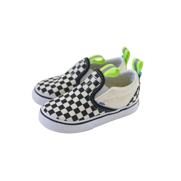 OG Classic Slip-On Custom by (multee)project | Checkerboard / Volt - Toddler