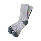 Colorbar Crew Socks | White