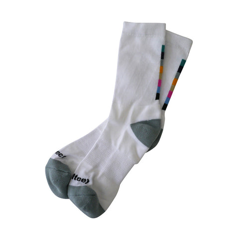 Colorbar Crew Socks / White