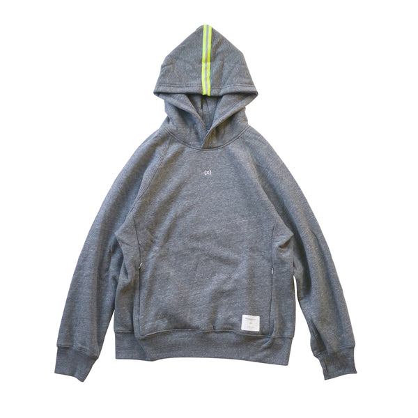 Signature Tri-blend Pullover | Heather Grey / Volt