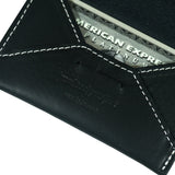 Leather Envelope Card Case / Black