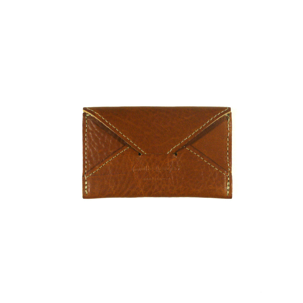 Leather Envelope Card Case | Tan