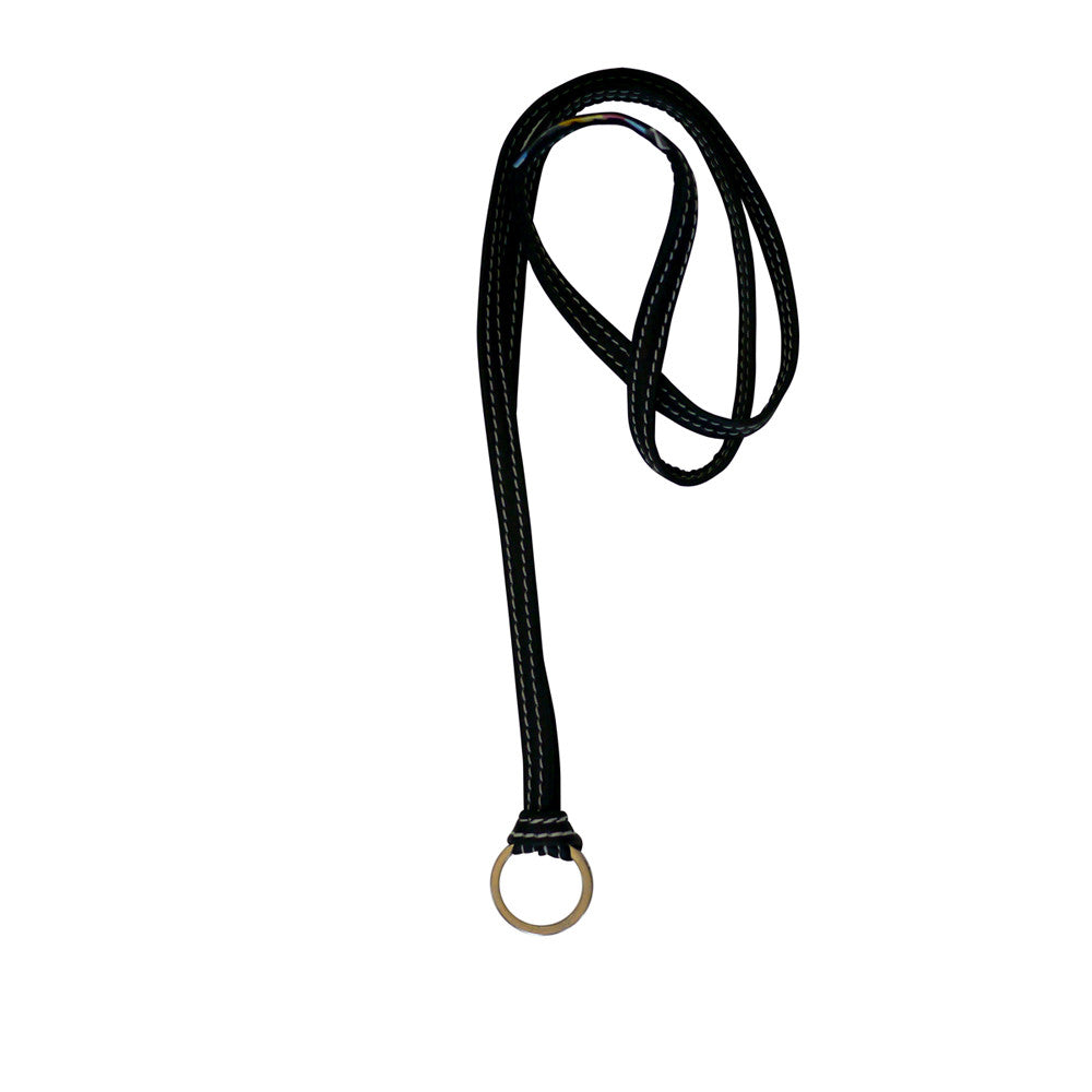 Leather Key Strap | Jet Black