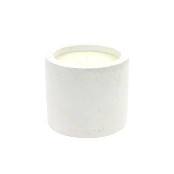 (multee)project x THE AWESOME CANDLE Concrete Candle | Bone White