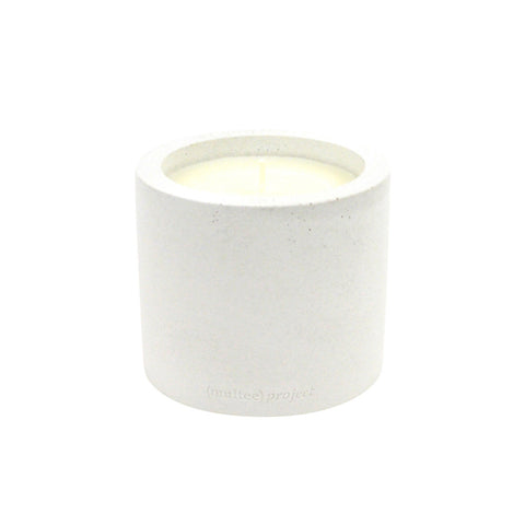 (multee)project x THE AWESOME CANDLE Concrete Candle / Bone White