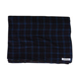 Overdyed Flannel Throw / Mood Indigo & Pirate Black