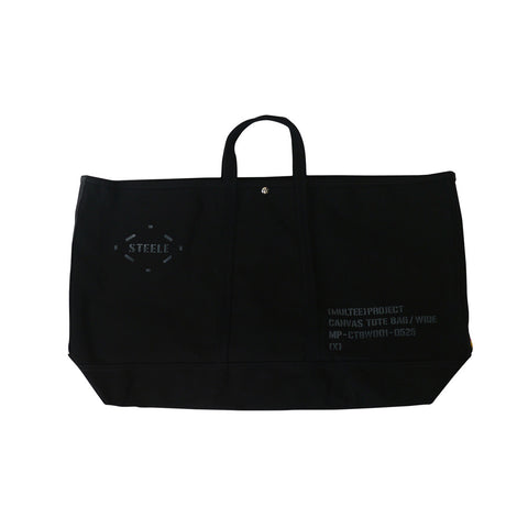 (multee)project x Steele Canvas Basket Oversized Canvas Tote / Black