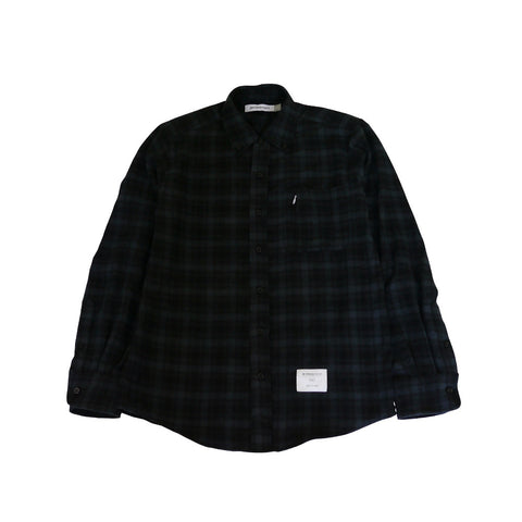 Overdyed B.D. Flannel Shirt | Pirate Black