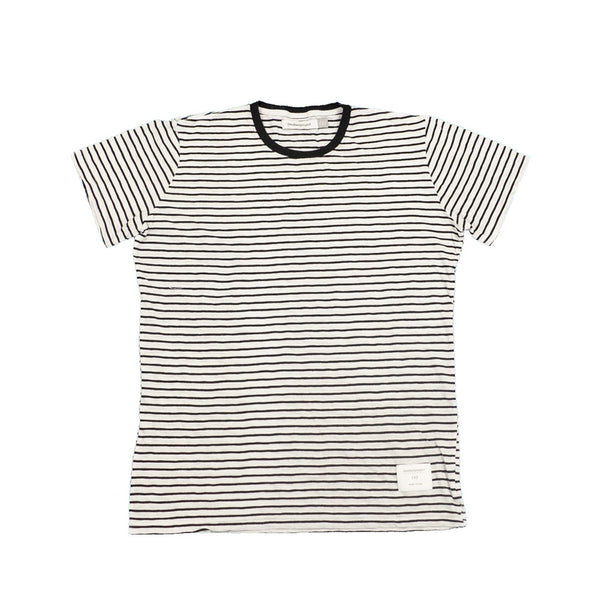 Signature Striped Tee | White & Black